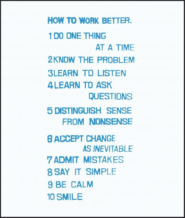 Cover for Peter Fischli David Weiss: How to Work Better