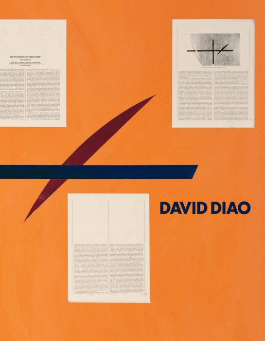 Cover for David Diao